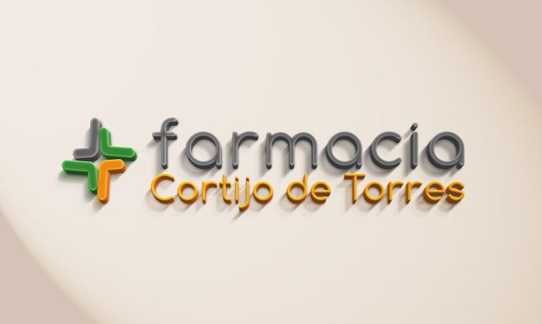 Logo Mockup 3D farmacia